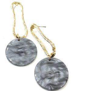 Medium Acrylic Drop Earrings with Gold Tone